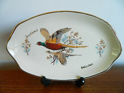 West Highland Pottery China Plate/platter Pheasant Design Shortbread Oatcakes!
