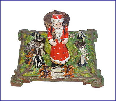 Vintage Cast Iron Santa Tree Stand - around 1920   (# 6365 )