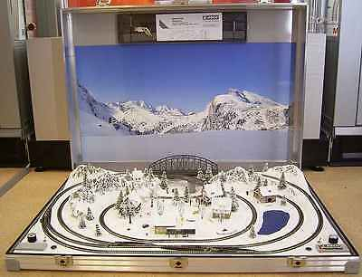 """NOCH 88291 Z Scale Briefcase Layout """"TIROL"""" with Rokuhan tracks 78x54 cm - NEW"""