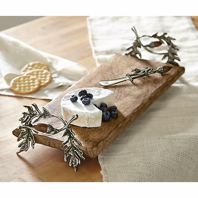 Mud Pie Oak Leaf Collection 2-Pc Handled Cutting Board Set Acorn Accents