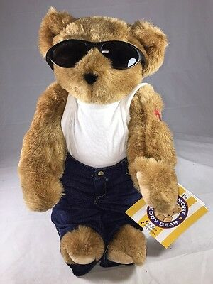 """Lover Boy Vermont Teddy Bear Co. 15"""" T-Shirt Jeans Sunglasses Jointed (B969-A88)"""