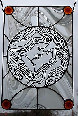 Stained Glass Art Nouveau - window image in Tiffany (copper and tin)