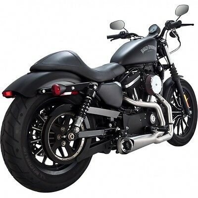 Vance & Hines Exhaust Brushed Aluminum Competition Series Sportster  75-118-4