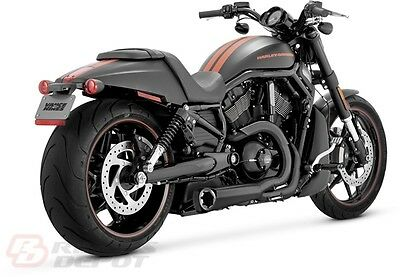 Vance & Hines Exhaust Matte Black Competition Series Harley V-Rod  75-113-9