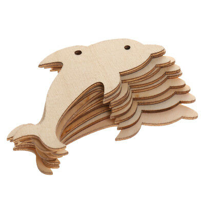 10x Rustic Wooden mini chic Dolphin Wedding Table Scatter Decorations Crafts
