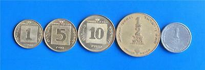 Israel Hanukkah Special Issue New Sheqel Set 5 Coins