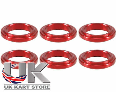 Wheel Spacer 5mm x 17mm Red Pack of 6 UK KART STORE