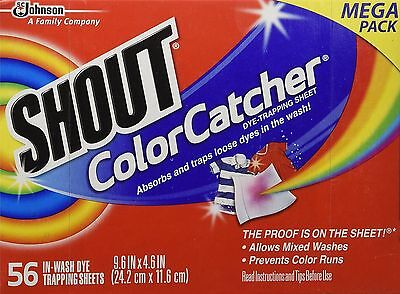 Shout Color Catcher Washer Dye Trapping Sheet, 56 Count Mega Pack