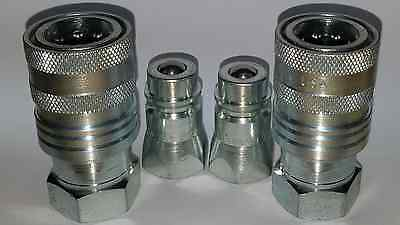 Safeway S45-6 Agricultural Quick Coupler Hydraulic fittings 2 sets S71 3/4 16