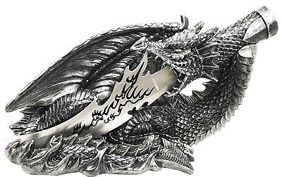 "13"" Length Fantasy Fire Breathing Dragon Athame Knife Letter Opener Dagger Decor"