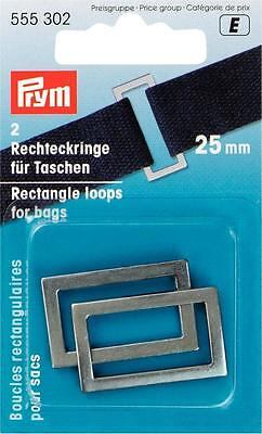Prym Rectangular rings for Bags 25 mm antiqued silver 2 Pcs 555302