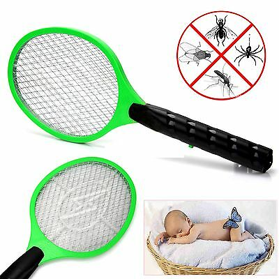 New Bug Zapper Racket Electric Mosquito Fly Swatter Killer Insects Bat Handheld