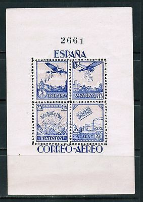 Spain 1937 Civil War Ondara Souvenir Sheet, MNH**