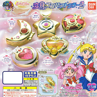 Bandai Sailor Moon Gashapon transforma​tion Compact Mirror mini Figure Vol 2