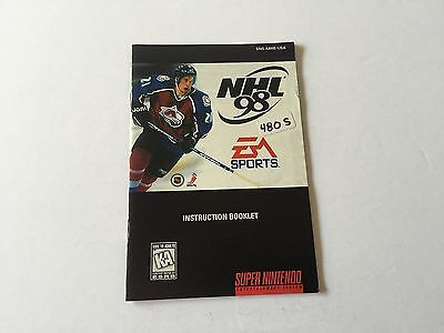 NHL 98 (Manual Only) Super Nintendo Snes [No Game] GREAT CONDITION