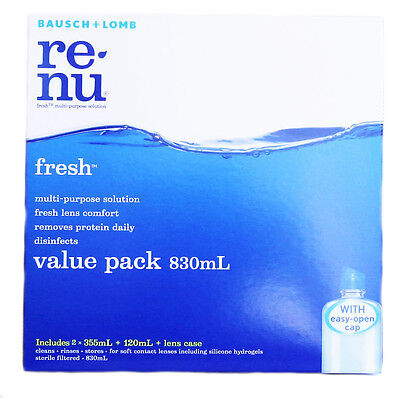 CONTACT LENS SOLUTION  VALUE PACK  RENU 830 ml