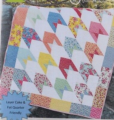 To the Moon -  fun modern pieced quilt PATTERN - Sweet Jane