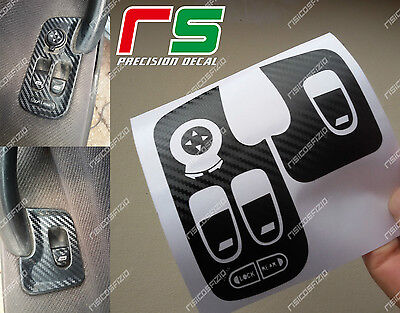 alfa romeo 147 e GT ADESIVI decal leve alzacristalli sticker cover carbon look