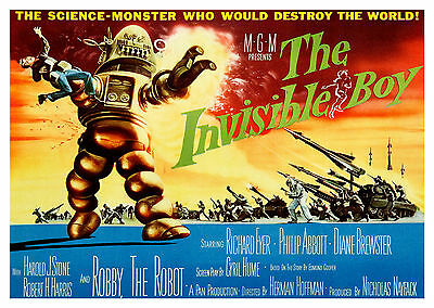 The Invisible Boy (1957) - A1/A2 POSTER **BUY ANY 2 AND GET 1 FREE OFFER**