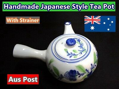 Handmade Japanese Style Tea Pot with Stainless Steel Strainer (B136)