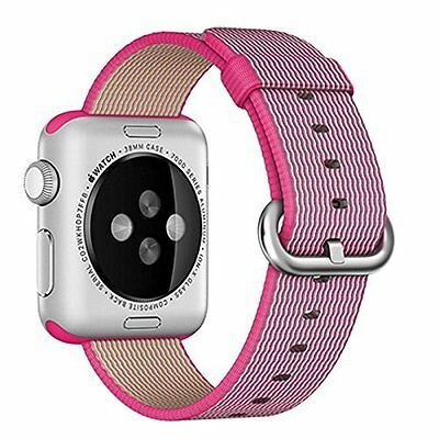 Woven Nylon Band Strap 38mm Replacement Accessory Pink for Apple Watch iWatch