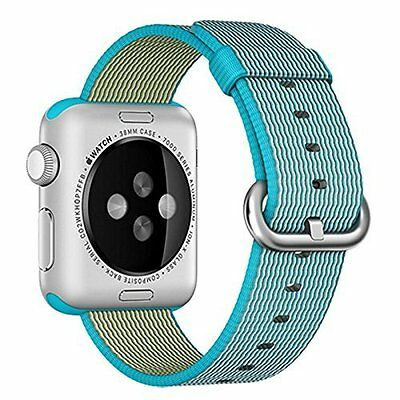 Woven Nylon Band Strap 42mm Replacement Accessory Blue for Apple Watch iWatch