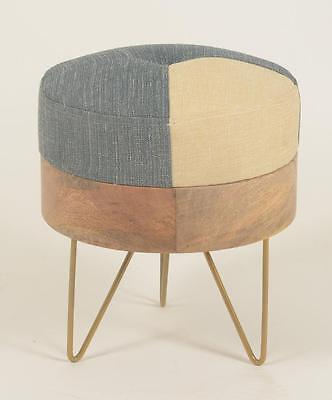 Round Pouffe / Footstool - Retro / Vintage Style 1950s / 1960s Inspired