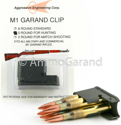 5rd M1 Garand Clip for Hunting New US made by AEC 5 Round Clips