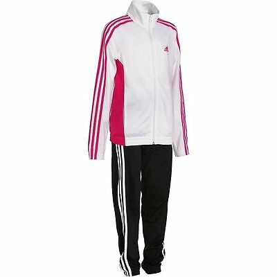 Girls Adidas Tracksuit Age 9-10 Years White Black Decadia Tracksuit Gym