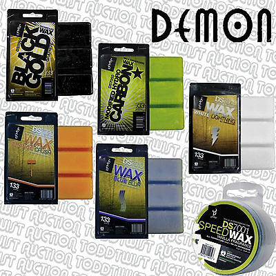 DEMON Wax for Ski & Snowboard - Assorted Temp + Carbon, Graphite, Rub & Iron on