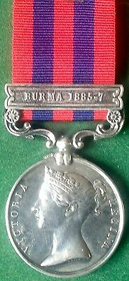 Victorian India General Service Medal 1854 With Burma 1885-7 Clasp, R.scots Fus