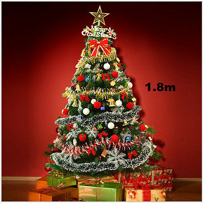 6ft Pre-Lit Artificial Indoor LED Lights Christmas Tree with Xmas Decorations