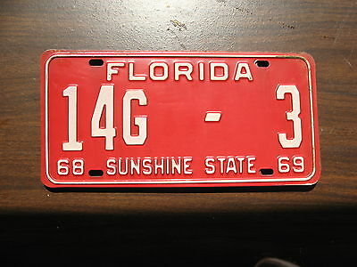 1968 68 1969 69 Florida Fl License Plate Tag 14G3 Marion County