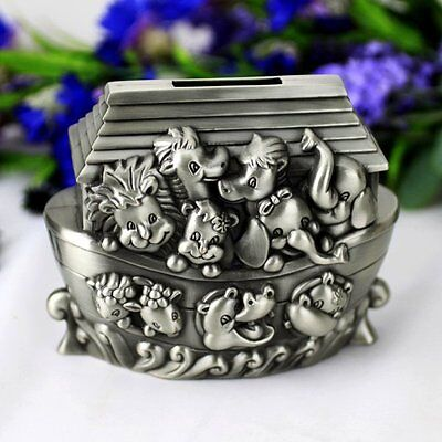 Noahs Ark Pewter Money Box | Newborn | Baby Shower | Keepsake
