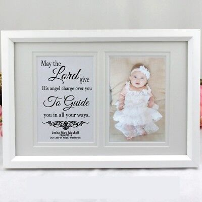 Christening Typography Frame- Personalised  - Add a Name & Message