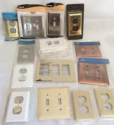 Mixed Lot Of 28 New Switch Plate Covers & Receptacle Outlet Covers Baldwin