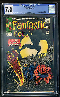 Fantastic Four #52 CGC 7.0 F/VF  1st Appearance of Back Panther