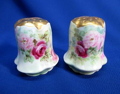 Hand-Painted Red And Pink Roses Rosenthal Salt And Pepper Shakers