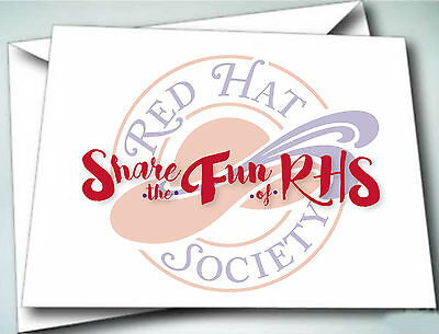 24 Note Cards W/ Envelopes Share The Fun Rhs 2016 Theme For Ladies Of Society