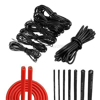 1/2/5/10M Silicone Wire Cable 10 12 14 16 18 20 22 AWG For RC Auto Car Wiring