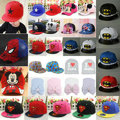 Children Baby Kids Girls Boys Lovely Sun Hats Hippy Snapback Sports Baseball Cap