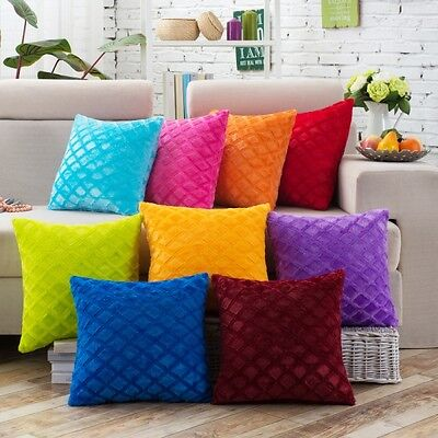 New Solid Nap Cushion Cover Home Decor Bed Sofa Throw Pillow Case