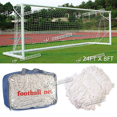 New 24x8ft Size Football Soccer Goal Post Nets For Sports Training Match Replace
