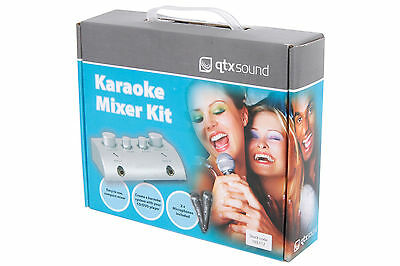 Karaoke Mixer Kit, Converts Cd/dvd Player Into Music System Includes Microphones