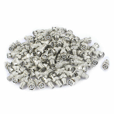 100Pcs BNC Male Plug to F-Type Female RF Coax Cable Video Adapter Connector