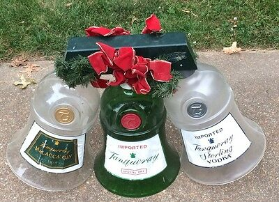 LARGE VINTAGE TANQUERAY GIN & VODKA BELLS LiIGHT SET