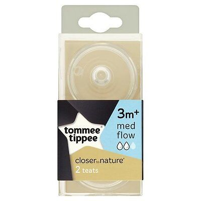 Tommee Tippee 42212210 Closer to Nature Medium Flow Teats 2 Teats