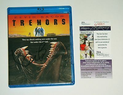 Actor Kevin Bacon Signed Tremors Blu Ray DVD Exact Proof JSA CERT