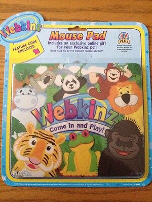 Webkinz Mouse Pad  With Feature Code NEW SEALED.