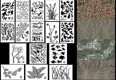 Digital Camo Vinyl Airbrush Stencil Paint Kit 24x26 Camouflage Duracoat